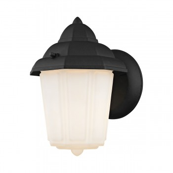 1 Light Outdoor Wall Sconce Lamp in Matte Black 2