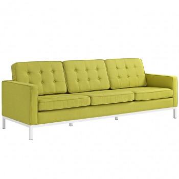 Loft Fabric Sofa, Wheatgrass by Modway
