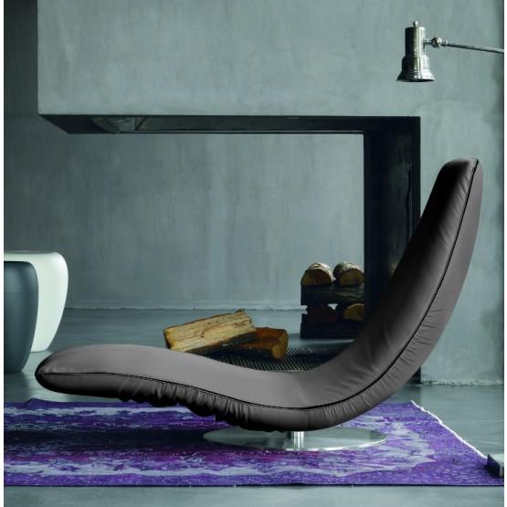 Ricciolo Chaise Lounge, Ash Grey Eco-Leather photo