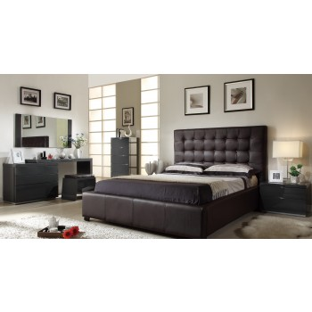 Athens 3-Piece King Size Bedroom Set, Chocolate by At Home USA
