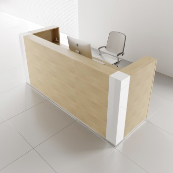 Tera TRA122 Reception Desk, Canadian Oak