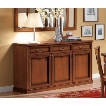 Nostalgia 3-Door Buffet, Walnut