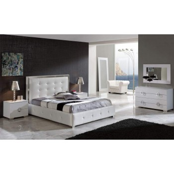 Coco 3-Piece King Size Storage Bedroom Set, White