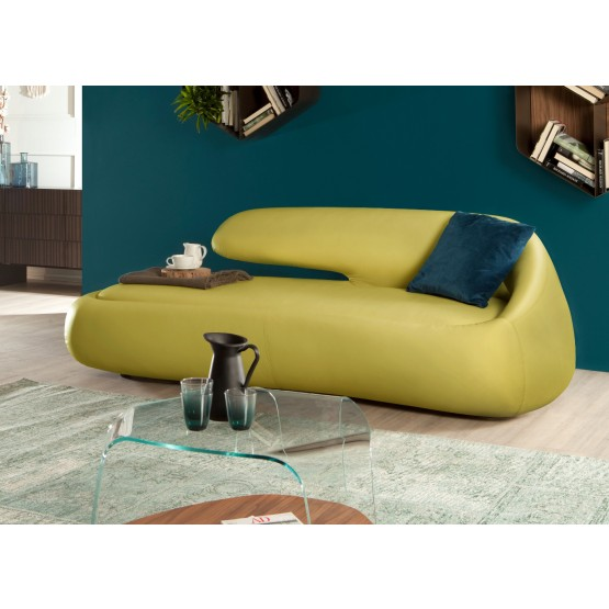 Duny Sofa, Mustard Yellow Eco-Leather photo