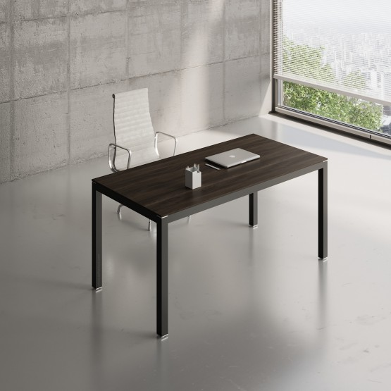 Impuls Desk IM04, Black + Chestnut photo