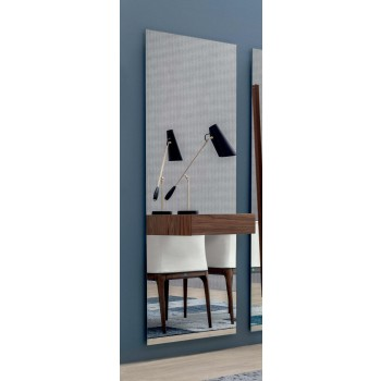 Alicante Silver Mirror with Drawer, Canaletto Walnut