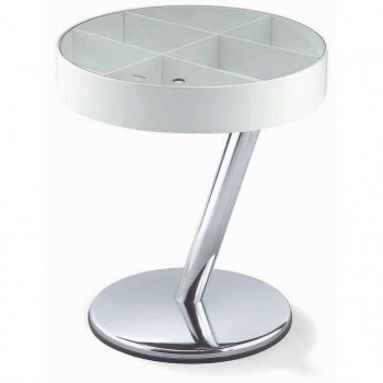 Enta-25 End Table, White