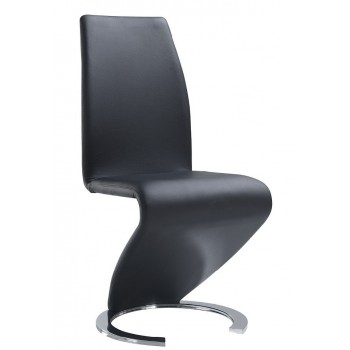 D9002-BL Dining Chair, Black