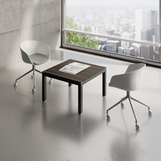 Impuls Small Table IM57, Black + Chestnut photo