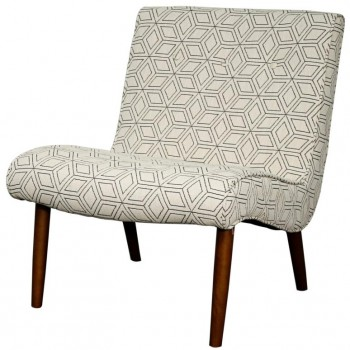 Alexis Fabric Chair, Amber Legs, Geo Diamond by NPD (New Pacific Direct)