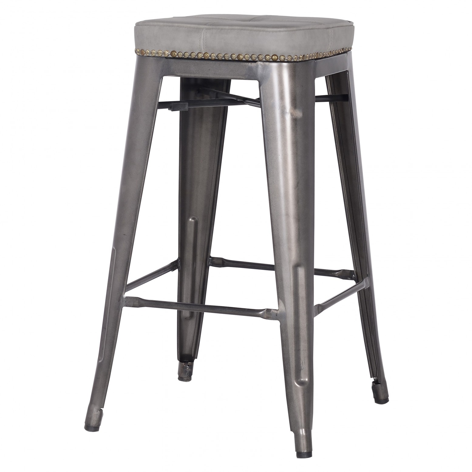 Pleasant Metropolis Kd Pu Metal Backless Counter Stool Vintage Mist Gray Caraccident5 Cool Chair Designs And Ideas Caraccident5Info