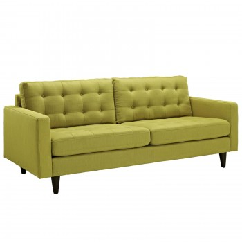 Empress Upholstered Sofa, Wheatgrass by Modway
