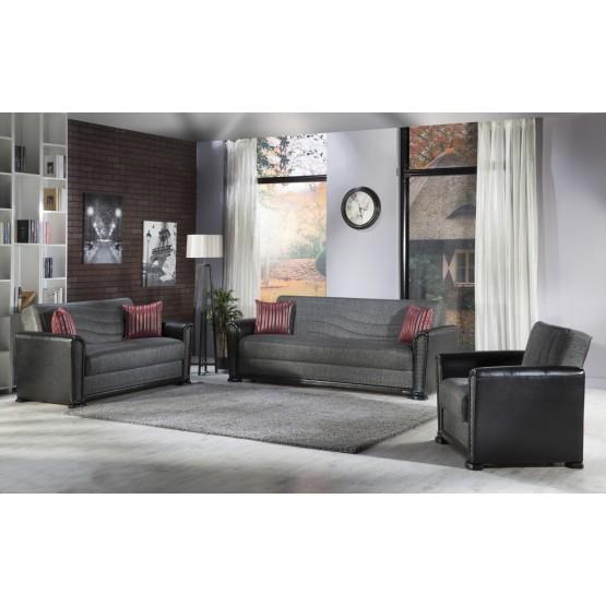 Alfa 3-Piece Living Room Set, Redeyef Fume photo