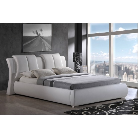 8269 Queen Size Bed, White photo