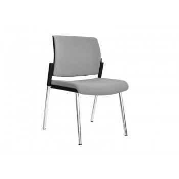 Aura Stackable Visitor Chair, 4-leg Base