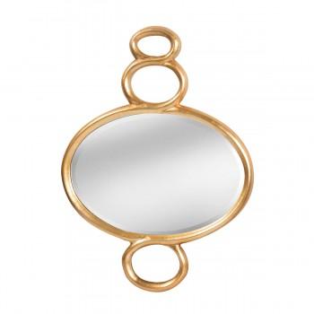 Ballora Figure Eight Mirror In Champagne Silver