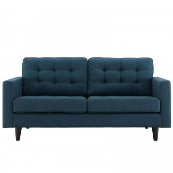 Empress Upholstered Loveseat, Azure by Modway