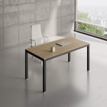 Impuls Desk IM04, Black + Canadian Oak