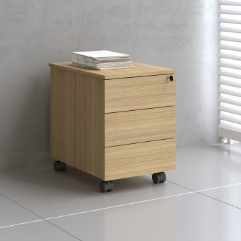 Mito Mobile Pedestal MIT130, Light Sycamore