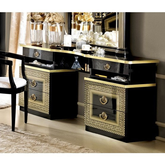 Aida Vanity Dresser, Black + Gold photo