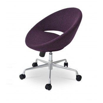 Crescent Office Chair, Base A3, Deep Maroon Camira Wool by SohoConcept Furniture