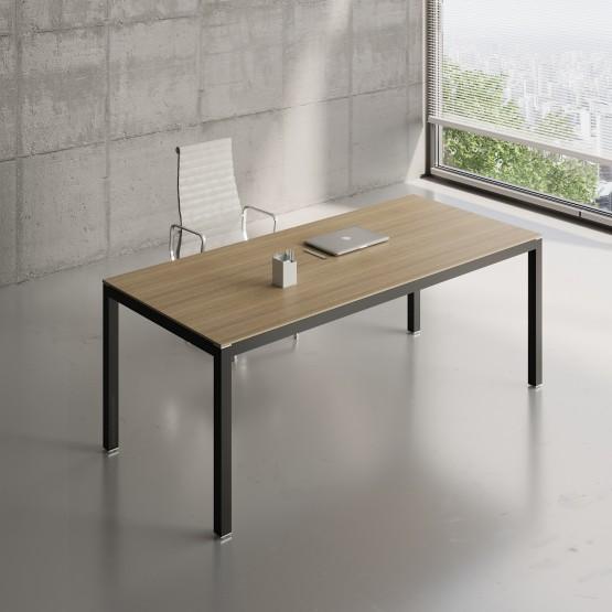 Impuls Desk IM06, Black + Canadian Oak photo