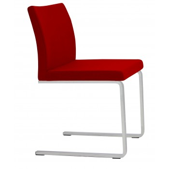Aria Flat Dininng Chair, Red Wool by SohoConcept Furniture