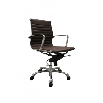 Comfy Low Back Office Chair, Brown by J&M Furniture