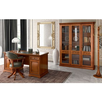 Torriani 2-Piece Office Set, Composition 4, Walnut