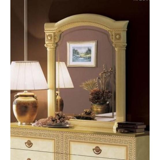 Aida Small Mirror, Ivory + Gold photo