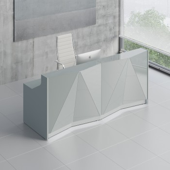 Alpa ALP06 Reception Desk, Aluminum