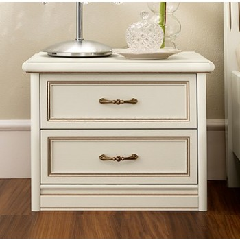 Nostalgia 2-Drawer Nightstand, Ash