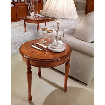 Siena Round Corner Table, Walnut