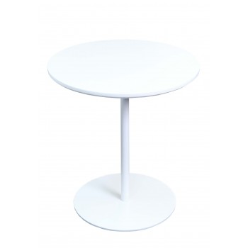 Ares End Table, White Base, White by SohoConcept Furniture