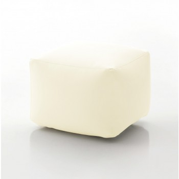 Truly Small Pouf, Havana White Eco-Leather