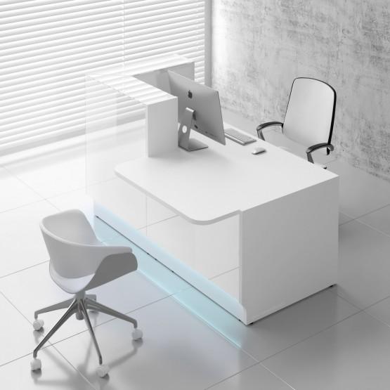 Linea LIN291L Reception Desk, White photo