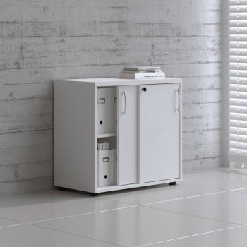 Sliding Doors Storage Unit A2P04, White