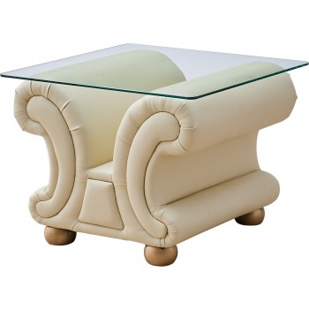 Apolo End Table, Ivory