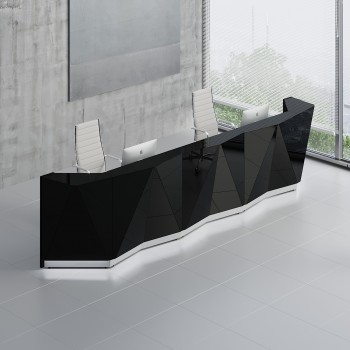 Alpa ALP16 Reception Desk, Black