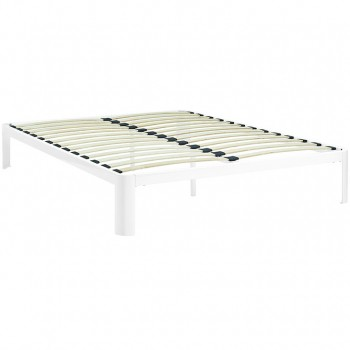 Corinne Queen Bed Frame, White by Modway