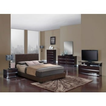 8103 3-Piece King Size Bedroom Set, Brown
