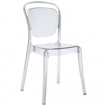 Entreat Dining Side Chair, Clear by Modway