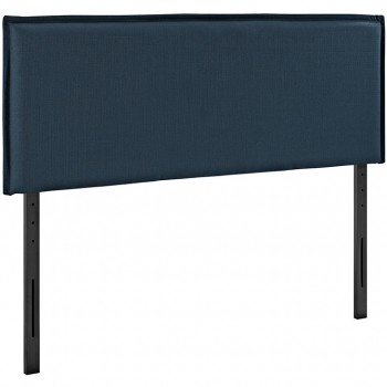 Camille Queen Fabric Headboard, Azure by Modway
