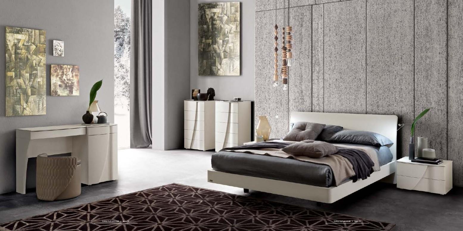 Luna Eclisse 3-Piece Queen Size Bedroom Set, White Ash