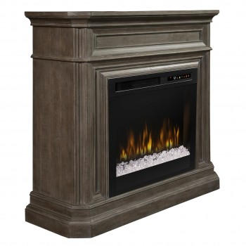 Ophelia Mantel Electric Fireplace, Biscotti Finish, Acrlyic Ice (XHD28) Firebox