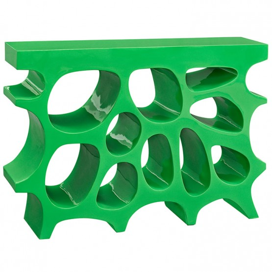 Wander Small Console Table, Green photo