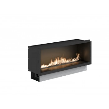 Fire Line Automatic 2 Model E Bio Fireplace in Casing, Stainless Steel