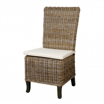 Bermuda Dining Chair, Kubu Grey, Set of 2 by NPD (New Pacific Direct)