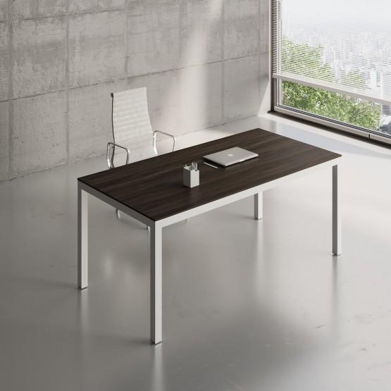 Impuls Desk IM05, White Pastel + Chestnut photo