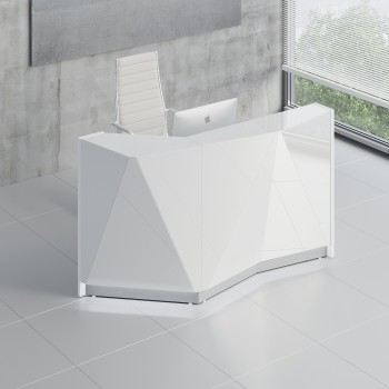 Alpa ALP04P Reception Desk, White